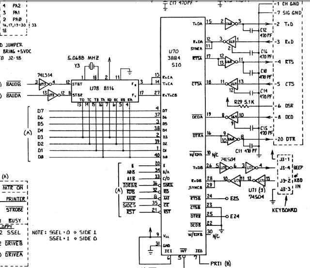fixing a keyboard problem on a kaypro ii