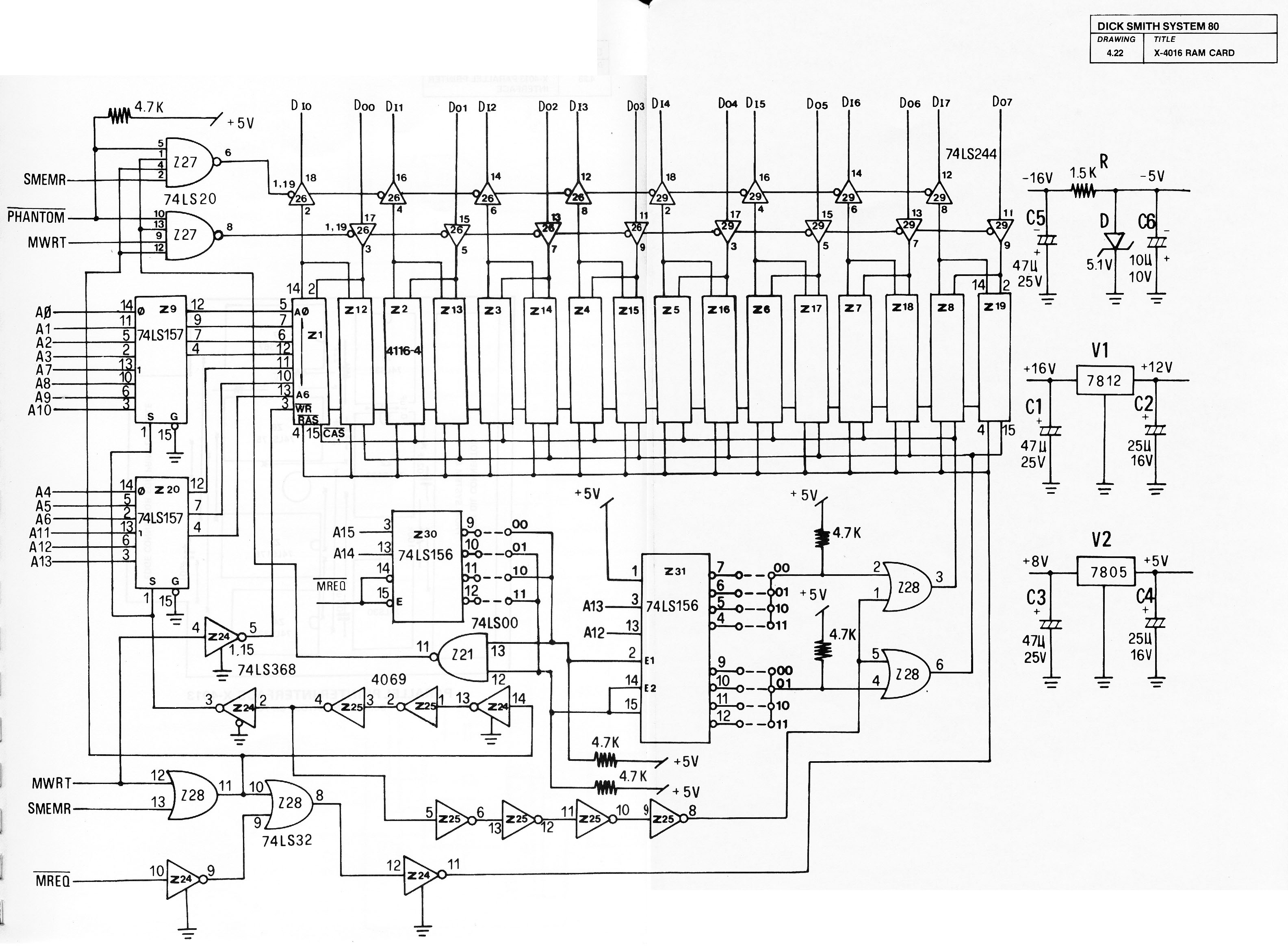 Digital Voltmeter Circuit Diagram Composed Of Mc14433 3 1 2 Dual Index 29 Computer Related Seekiccom Apps System 80 Manuals